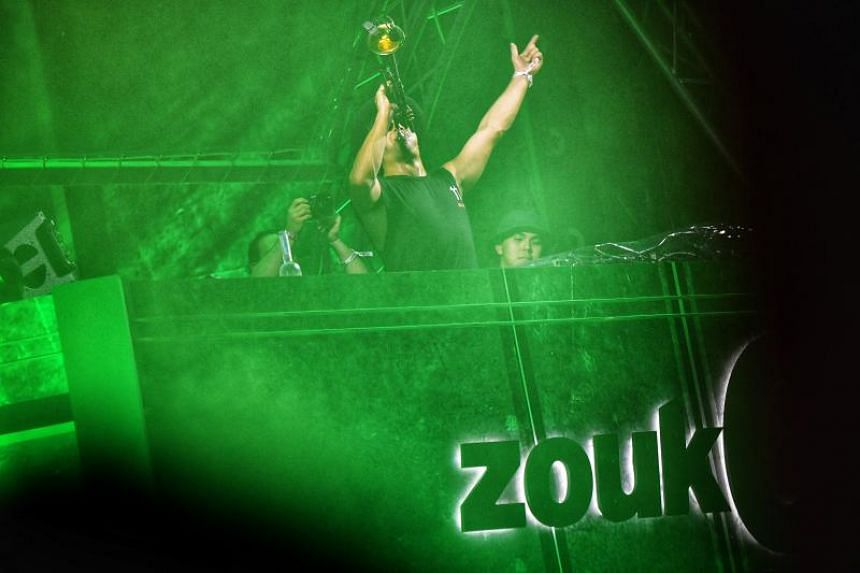 Australian DJ Timmy Trumpet performing during his set at ZoukOut 2018.