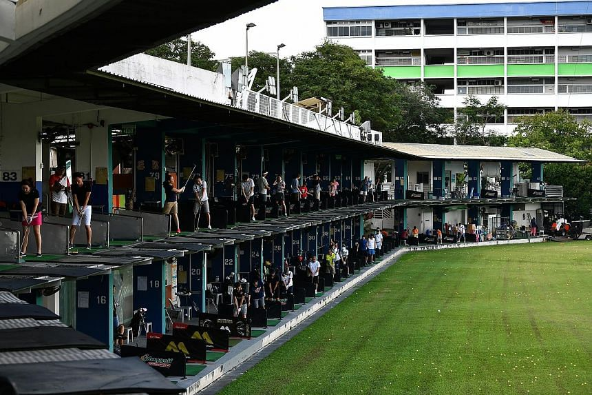 Golfers practising at the Toa Payoh Golf Range yesterday, its last day of operation. Mr Poh Eng Teck, managing director of Poh Bros Golf Management, which was running the range, said he was informed by the authorities that the 2.9ha site has been zon