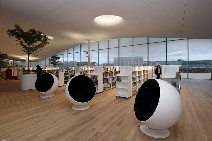A room of Helsinki's new Central Library Oodi, in Helsinki, Finland, on Nov 30, 2018.