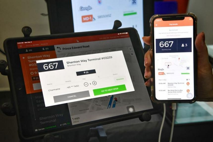 The BusNow app will display the same boarding code on both the driver's tablet and the commuter's smartphone. This will help the driver to confirm that the correct passenger is being picked up.