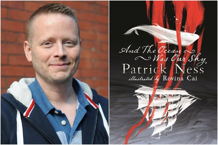 Author Patrick Ness and his latest book, And The Ocean Was Our Sky.