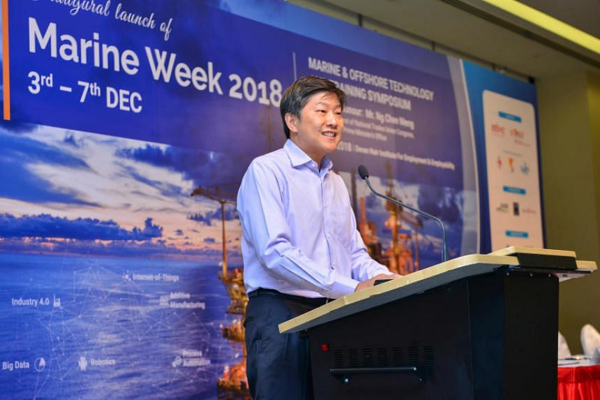 National Trades Union Congress secretary-general Ng Chee Meng at the launch of the week-long Marine Week at the Devan Nair Institute for Employment & Employability on Dec 3, 2018.