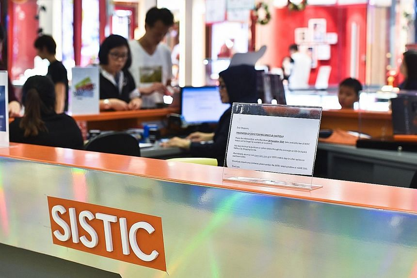 The 11 counters which were closed had said heavy resources were needed to support operations, said Sistic chief executive Joe Ow.