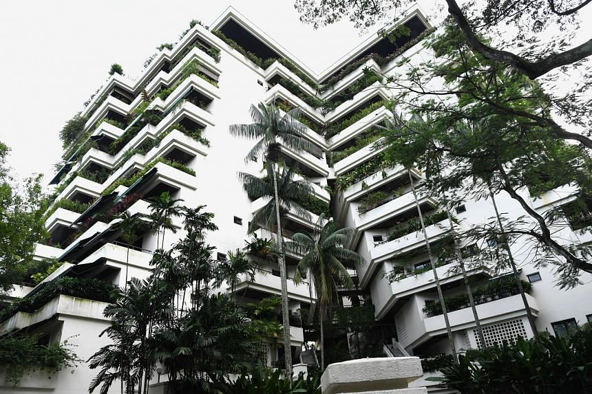 The owner of a condo unit in The Acardia widened the entrance from her living room to her balcony by removing the wall columns and installing sliding doors. The management corporation said it did not give her permission to do so.