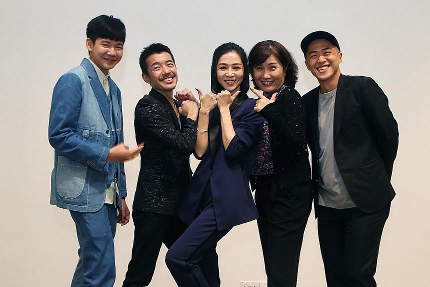 The cast of Dear Ex (from left) Joseph Huang, Spark Chen and Hsieh Ying-hsuan, and directors Mag Hsu and Hsu Chih-yen.