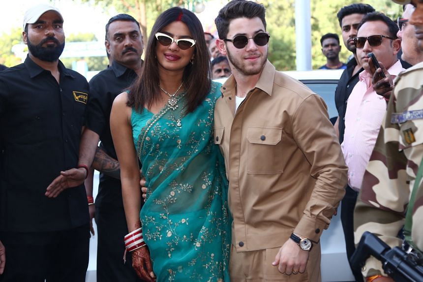 Nick Jonas was said to have ridden a horse while he and Priyanka Chopra were reported to have ridden around the grounds of the Umaid Bhawan Palace in Jodhpur, India, on the back of an elephant.