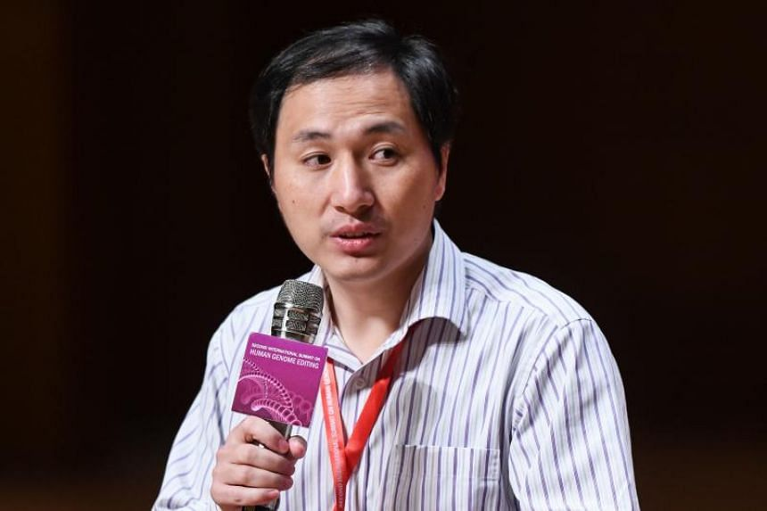 Chinese scientist He Jiankui takes part in a question and answer session after speaking at the Second International Summit on Human Genome Editing in Hong Kong on Nov 28, 2018.