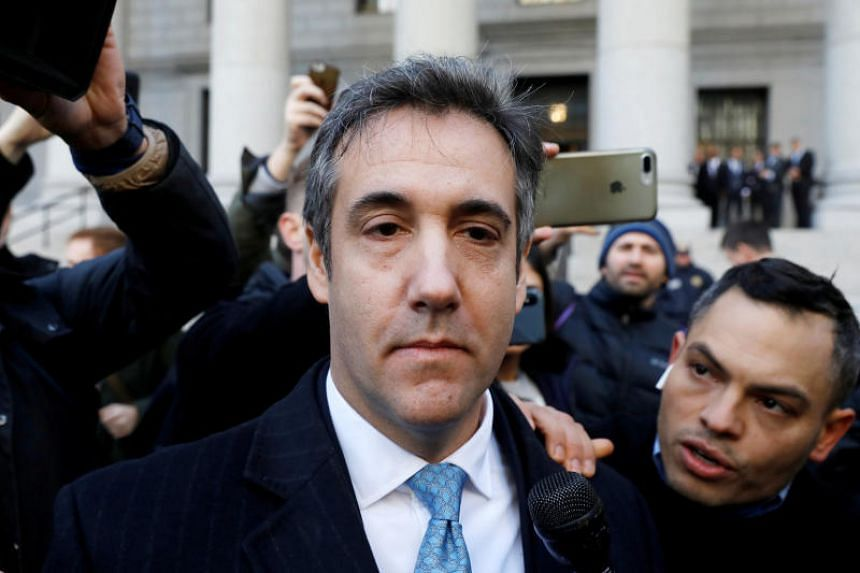 US President Donald Trump's former lawyer Michael Cohen exits the Federal Court after entering a guilty plea in Manhattan, New York City, US, on Nov 29, 2018.