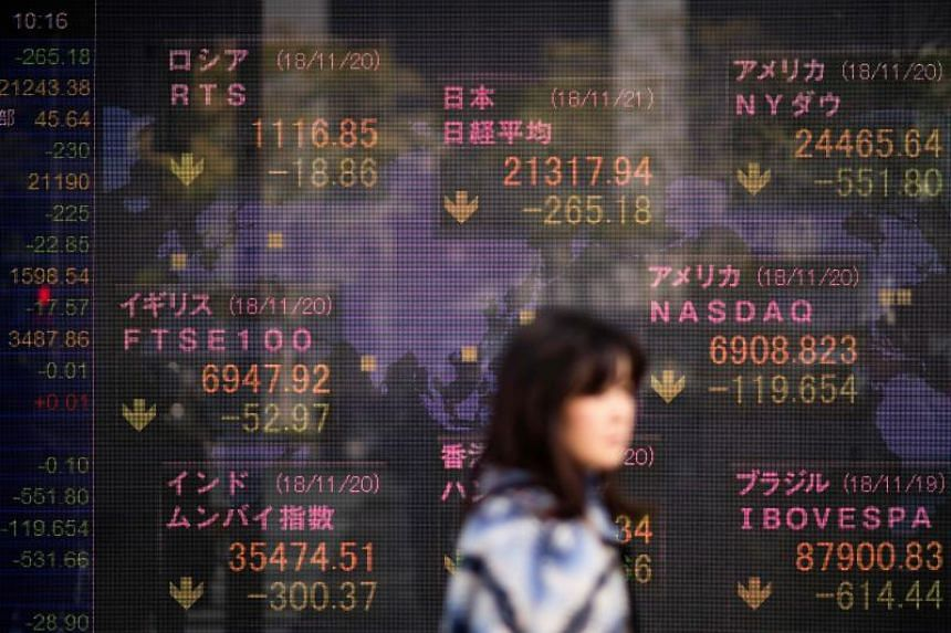 Stocks in Japan, Korea and Australia posted modest losses while Hong Kong futures pointed lower.