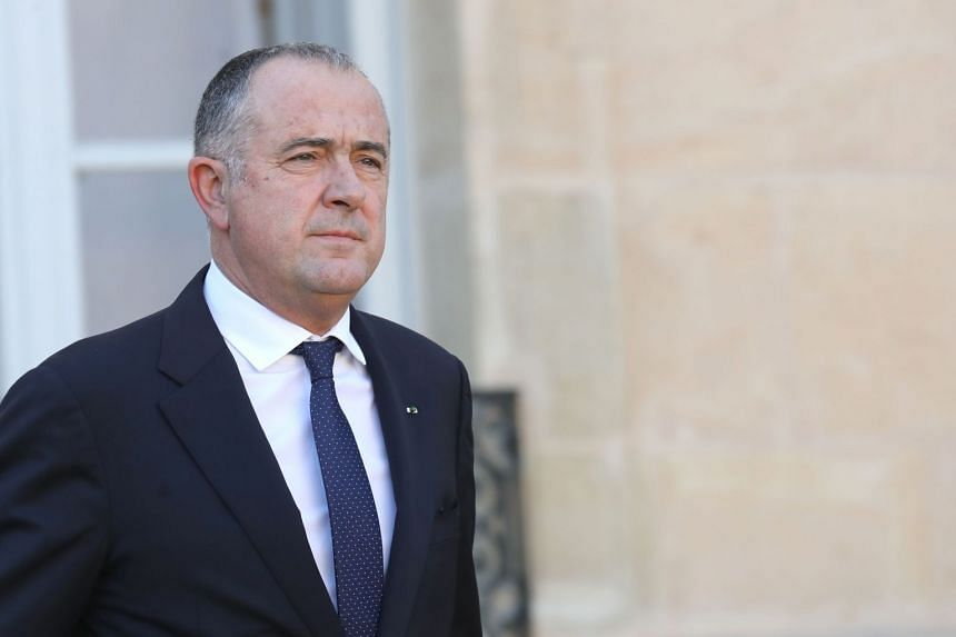 French Agriculture Minister Didier Guillaume leaving the Elysee presidential palace in Paris after a weekly Cabinet meeting on Nov 14, 2018.