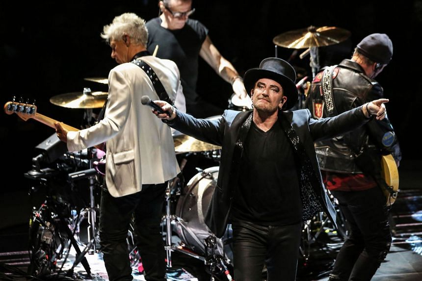 Irish rock band U2 topped the 2018 Forbes magazine list of the highest-paid musicians due in part to the group's successful Joshua Tree world tour celebrating their classic 1987 album.
