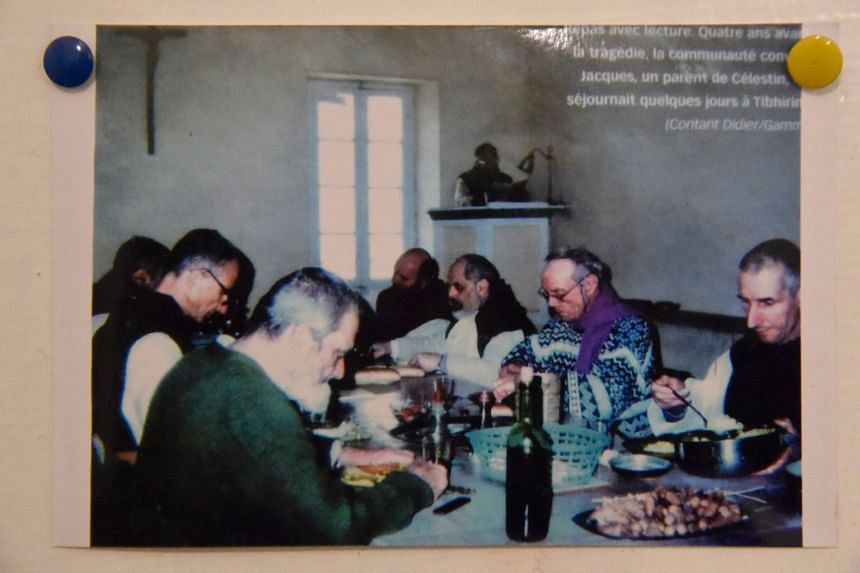 A picture of the seven French Trappist monks from the Priory of Our Lady of Atlas in Tibhirine, Algeria, who were killed by Islamist gunmen in March 1996.