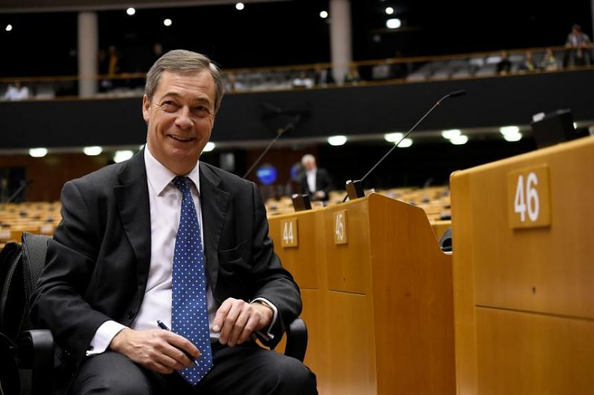 Brexit campaigner and member of the European Parliament Nigel Farage attends a plenary session on Article 50 Negotiations with Chief EU negotiator for Brexit at the European Parliament in Brussels on Nov 29, 2018.