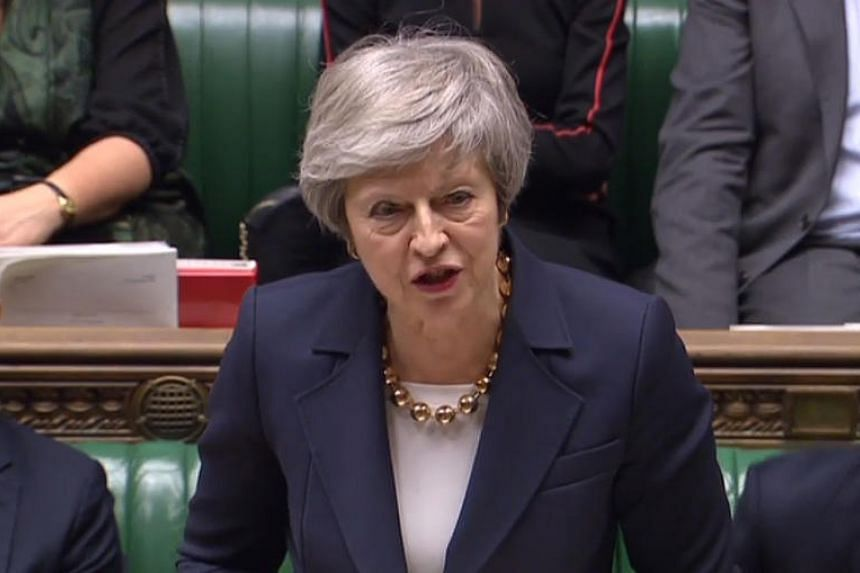 Britain's Prime Minister Theresa May speaks in the House of Commons in London on Dec 4, 2018, at the beginning of a debate on the Brexit deal.