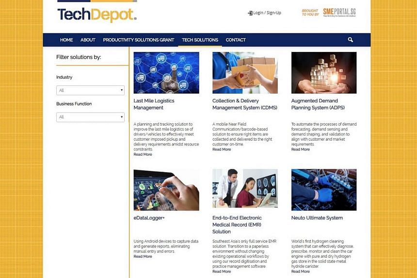 SMEs that require certain tools to grow digitally, such as those for media production, can pick from a list of pre-approved solutions on the Tech Depot Web platform.