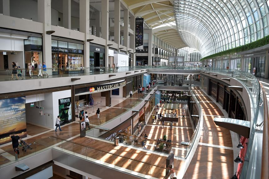The luxury shopping mall at The Shoppes at Marina Bay Sands. A wealth report by Swiss private banking group Julius Baer found that luxury goods for women have heftier price tags on average compared with those for men.