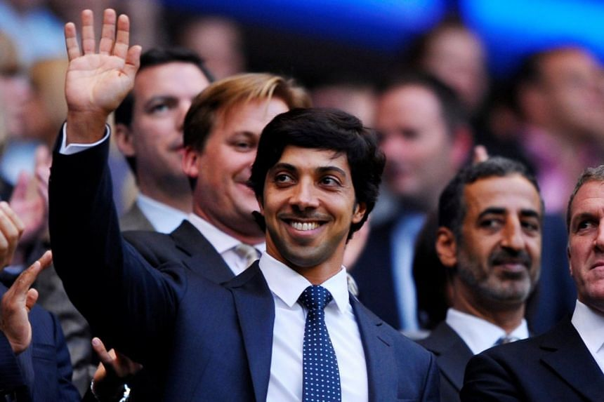 Manchester City owner Sheikh Mansour bin Zayed Al Nahyan waves on a picture dated Nov 7, 2018.