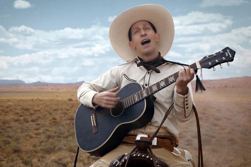 The Ballad Of Buster Scruggs, starring Tim Blake Nelson, which is on the Oscars voting list but available in Singapore only on Netflix.