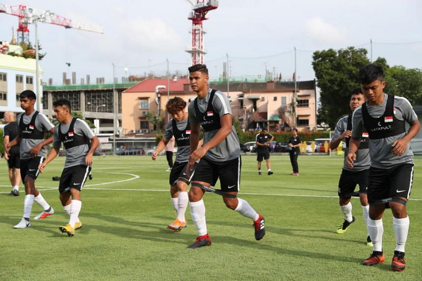 The Lions training at Geylang Field on Sept 3, 2018. At least six candidates have been interviewed for the job of Singapore's national football coach, said FAS president Lim Kia Tong on Dec 5, 2018.