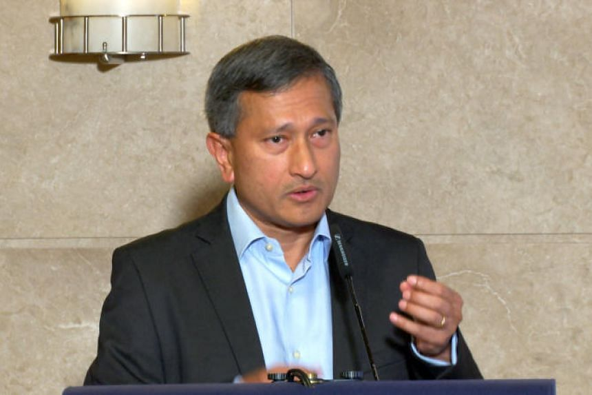 Singapore Foreign Affairs Minister Vivian Balakrishnan stressed on the urgent need to avoid escalating tensions on the ground and comply with international law, in a phone call with Malaysian counterpart Saifuddin Abdullah.