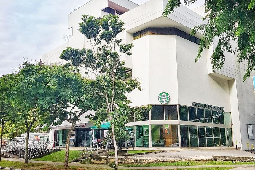 The ground-floor strata commercial space at Coronation Shopping Plaza occupies a corner with direct street-level access from Bukit Timah Road and Coronation Road.