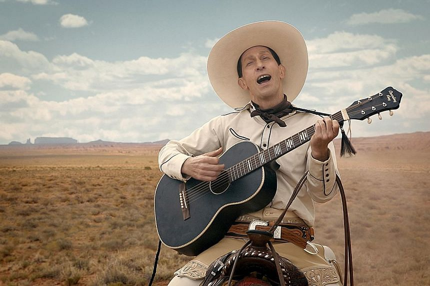 Western anthology The Ballad Of Buster Scruggs, which stars Tim Blake Nelson, is available in Singapore only on streaming service Netflix.
