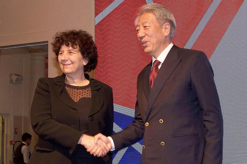 DPM Teo Chee Hean and French Minister of Higher Education, Research and Innovation Frederique Vidal at an event in Paris to close the year-long collaboration between both countries.