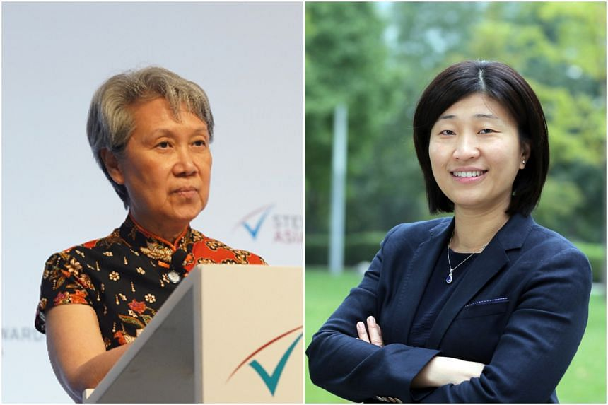 Temasek's chief executive and exexutive director Ho Ching (left) came in 17th, while managing partner of GGV Capital Jenny Lee came in 87th.