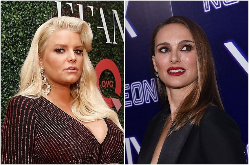 Jessica Simpson (left) has accused Natalie Portman of shaming other women for their choices.