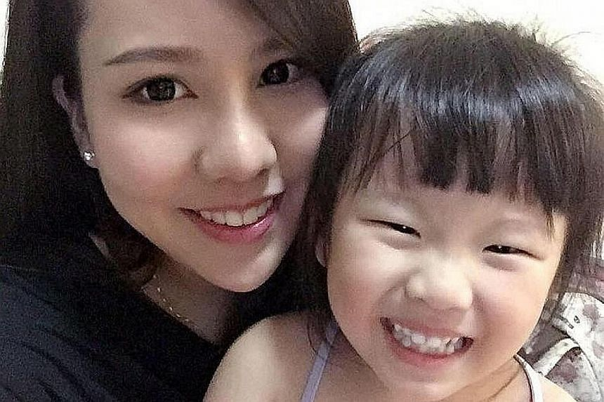 Madam Jacelyn Wong with her daughter, Eleanor Tan Si Xuan. Eleanor was killed in a car accident on Oct 9 last year.