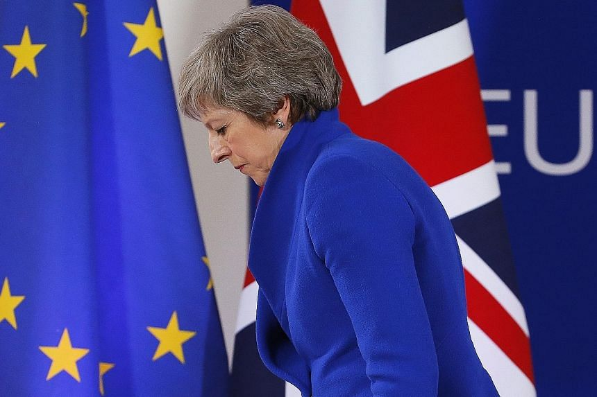 British Prime Minister Theresa May has repeatedly said that if lawmakers reject her deal with Brussels, which would see Britain exit the European Union with continued close ties, the only options are leaving without a deal or reversing Brexit.