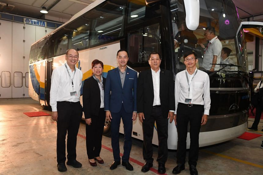 (From left) MP Yee Chiah Hsing, SC Auto managing director Rachel Lee, Senior Minister of State for Trade and Industry Koh Poh Koon, SC Auto chairman Tan Siow Chua and MP Teo Ser Luck at the launch of the SC Neustar on Dec 7, 2018.