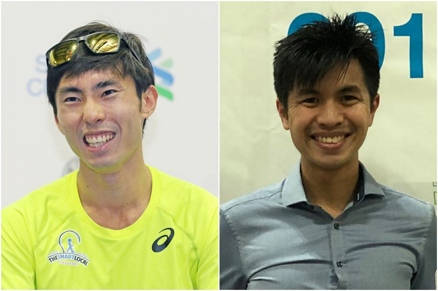 Soh Rui Yong (left) and Ashley Liew are set to race each other once again in the Standard Chartered Singapore Marathon on Dec 9, 2018.