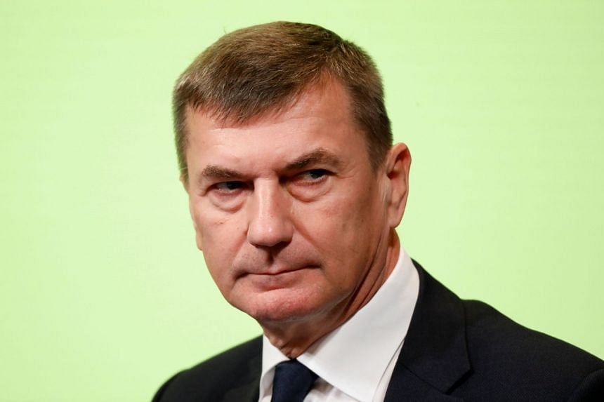 European Commission vice-president Andrus Ansip at the GovTech Summit in Paris on Nov 12, 2018.