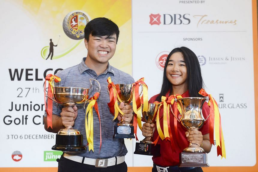 In a field of 97 junior golfers at the 27th Junior Invitational Golf Championship (JIGC), Andre Chong and Hailey Loh (pictured) emerged with the highest honours. After three rounds at the Singapore Island Country Club, the pair were yesterday named t