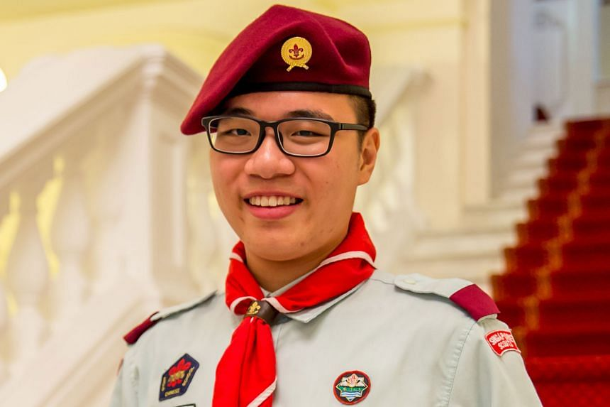 Six girl guides from Girl Guides Singapore and four venture scouts from Singapore Scout Association received the highest President's Guide Award and President's Scout Award from President Halimah Yacob at the Istana yesterday. Among them are (above,