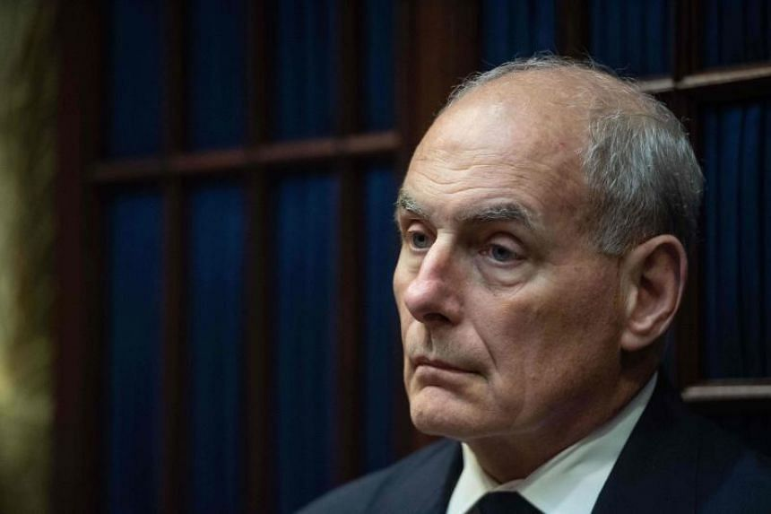 White House Chief of Staff John Kelly at a meeting between US President Donald Trump and Republican Congressional leaders at the White House in Washington on Sept 5, 2018.