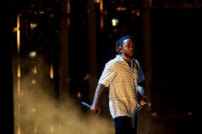 Kendrick Lamar performs at the Firefly Music Festival in Dover, Delaware onJune 17, 2018.