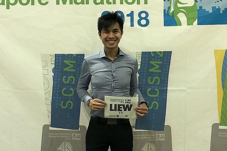 Ashley Liew, the 2012 Singapore Marathon local champion with his race tag, declined to comment on the sportsmanship saga.