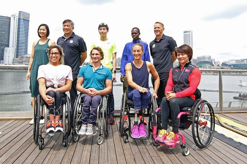 An elite wheelchair race will feature at the Standard Chartered Singapore Marathon for the first time this year, with wheelchair athletes taking their place alongside their able-bodied counterparts at the pre-race press conference yesterday. Among th