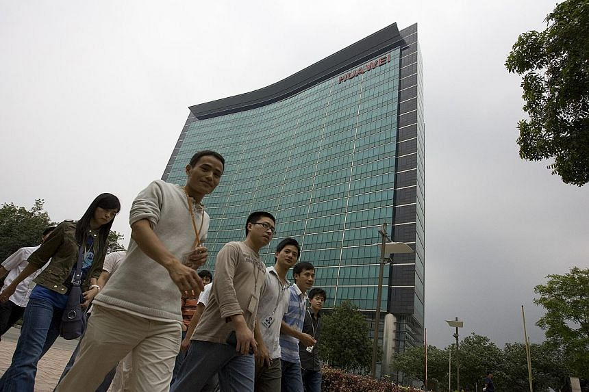 "Huawei's global headquarters in Shenzhen. China said it was ""seriously concerned"", adding that Huawei and ZTE have been operating legally in Japan for a long time."
