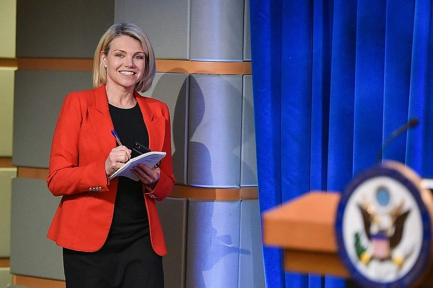 Spokesman for the US State Department Heather Nauert was a correspondent and anchor at Fox News Channel.