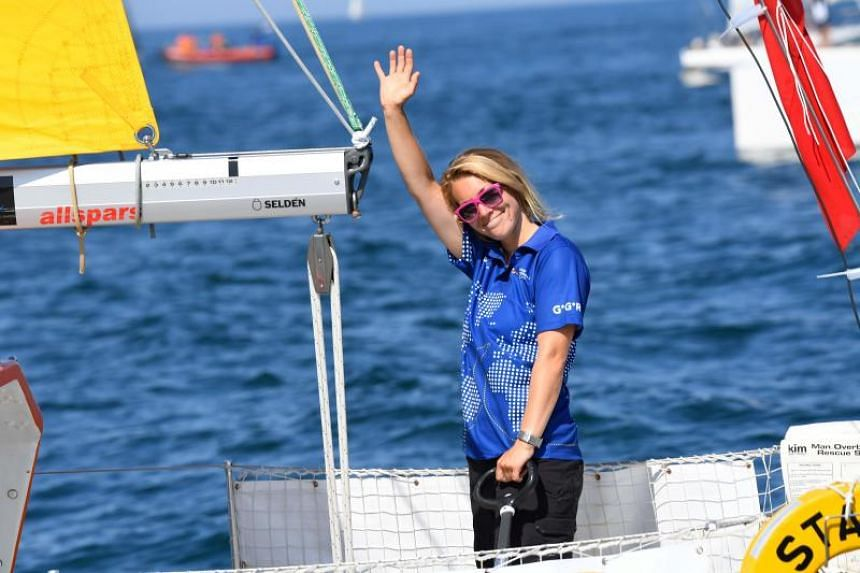 Susie Goodall was briefly knocked unconscious when mountainous seas upended her yacht DHL Starlight early on Dec 6, 2018, tearing off its mast and trashing much of her equipment.