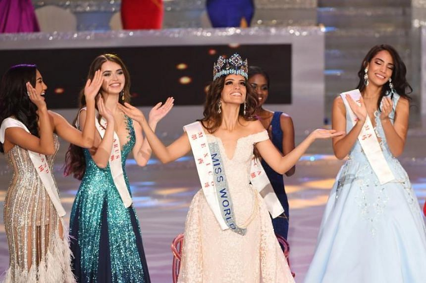 Miss Mexico Vanessa Ponce de Leon (centre) has a degree in international business, volunteers for Migrantes en el Camino and is on the board of directors of a rehab centre for girls.