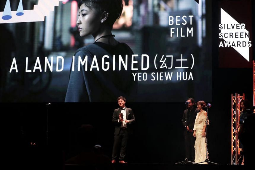 Writer-director Yeo Siew Hua's mostly-Mandarin drama, A Land Imagined, won Best Film in the Asian Feature Film Competition at the Silver Screen Awards on Dec 8, 2018.