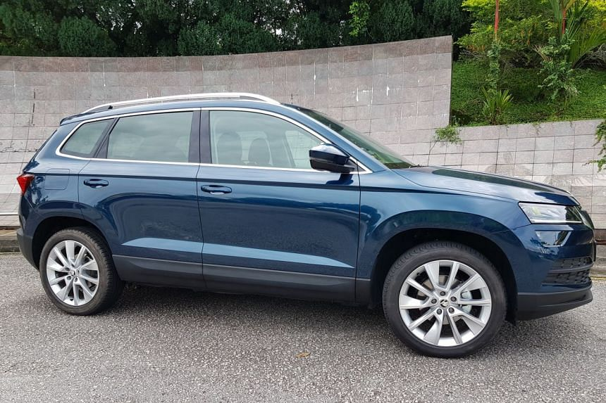 The Skoda Karoq is brisk enough for urban roads.