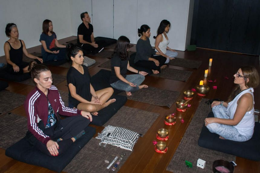 Wellness and meditation studio Space 2B offers a variety of classes including sound bath and guided meditations.