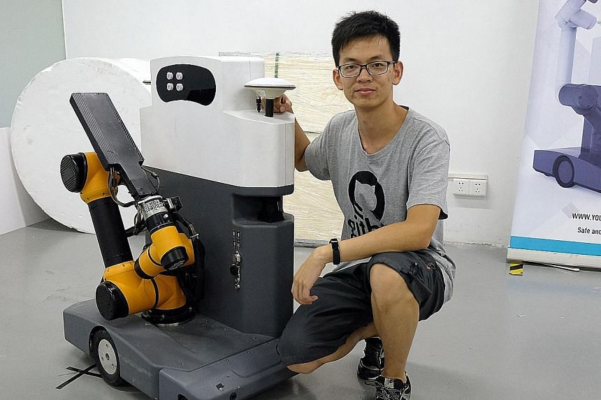 Mr Zhao Wanqiu, a co-founder of robotics start-up Youibot, is one of the many hardware entrepreneurs drawn to Shenzhen.