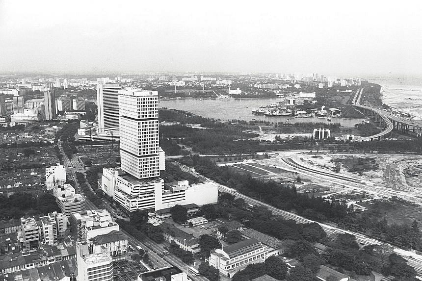 """The Shaw Tower, a 35-storey office and retail complex built in the 1970s, was part of the authorities' plan in the late 1960s to raise a """"Golden Mile"""" of modern skyscrapers of hotels, shops and luxury apartments in the Beach Road area"""