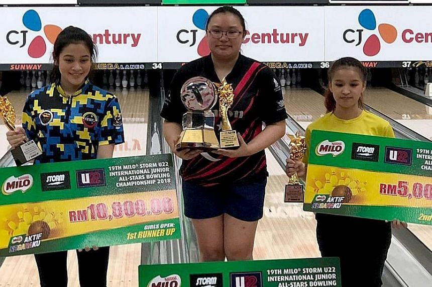 Singapore's Charmaine Chang won the girls' Open title at the Milo Storm Under-22 International Junior All-Stars Bowling Championship in Kuala Lumpur yesterday.